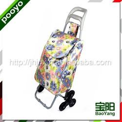 sturdy promotion shopping trolley bag four wheels vegetable shopping trolley bag