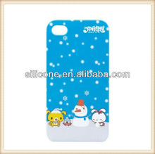 Santa Claus Sleds Merry Christmas silicone phone case for iPhone 4 case