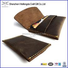 2015 Fashion Handmade Business Mens Genuine Leather Card Holder