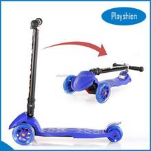 2015 NEW led light wheels best selling folding kick scooter for child