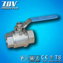 Stainless steel ball valve 1000psi 2000psi