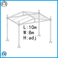 factory direct sale high quality aluminum stage truss with triangle roof system , outdoor concert stage , customized stage truss