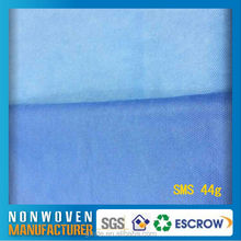 50gsm Blue SMS nonwoven fabric stock