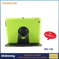 With stand rubber case for ipad 3