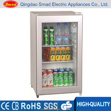 counter top glass display fridge suppliers