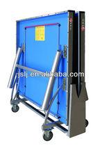 D99-3 buena calidad rollaway equipo de tenis de mesa / Professinal mesa de tenis de mesa plegable