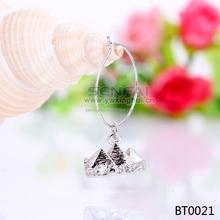 bulk engraved wine glass charms Wedding lead & nickel free glass wine charm