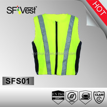 Latest cool design reflective sport wear cycling motorcycle running reflective protective vest jersey