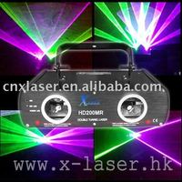 double head green pink beam stage lighting