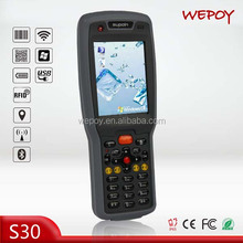 IP65 big screen wireless wifi GPRS bluetooth 1D 2D laser android rfid reader phone for sale