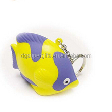 Wholesale floated 3D fish keyrings,cutomized cheap eva keychains