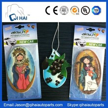popular hanging car air freshener with different shape