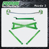 high quality aluminum front strut bar chassis strengthenbar front tower bar for Mazda 2
