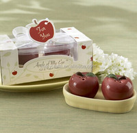 Wholesale Beautiful apple Salt and Pepper Shaker Wedding Favors / Mini ceramic Gift