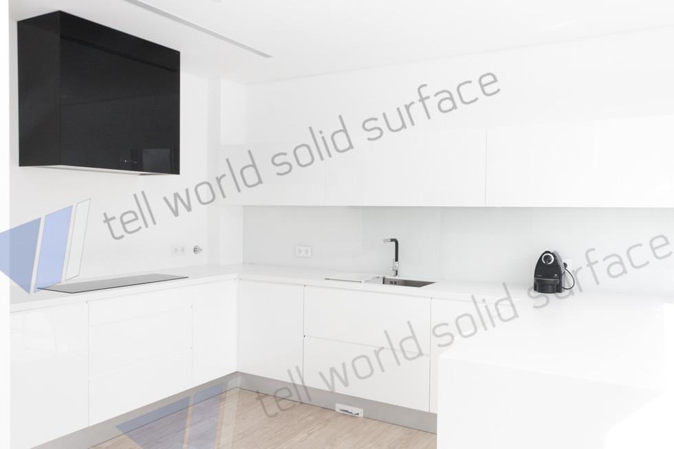 Hecho en china diseño encimera mueble de cocina para hotel ...
