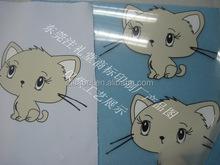 Personalizado adorável gato etiquetas de transferência de calor roupa dos miúdos