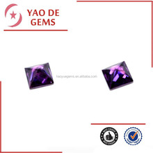 Square Factory Price Best Cubic Zirconia Lab Created Amethyst