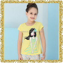 Classical printing casual plus size childrens clothing