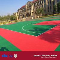 outdoor & indoor interlocking plastic floor for basketball court