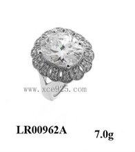 AAA Zircon Rhodium Plated 925 Silver Cocktail Ring For 2015 Alibaba Wholesale