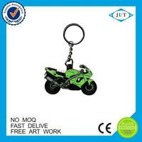 Wholesale customized eco-friendly soft pvc motorcycle keychain