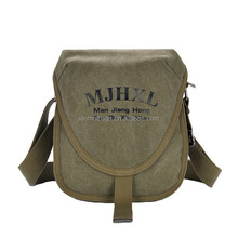classical vintage best selling leisure small canvas messenger bag for teens