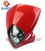 Street Fighter Bike Motorcycle Universal Dirt Bike Vision Headlight RED New