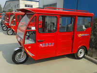 300w solar power electric tricycle for passenger seat