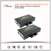 Kinan high quality 120m usb hdmi extender over cat5 support 1080P