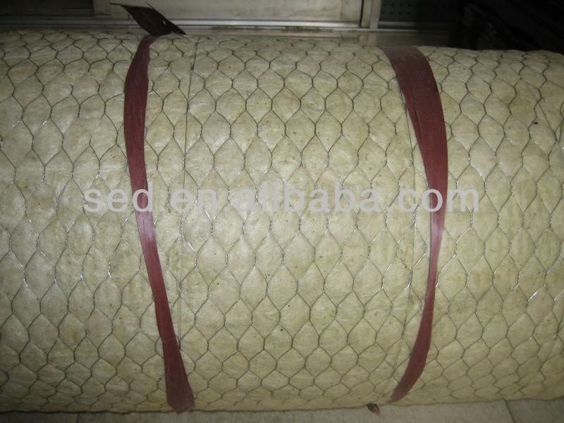 Mineral wool blanket with wire mesh mineral wool board for Mineral wool blanket