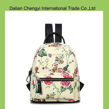 Hot sale low toxic canvas college backpack with customize print
