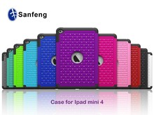 Colorful anti-shock silicone case for iPad mini 4 plastic phone cover