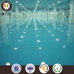 Automobile manufacturer transparent epoxy floor coating