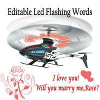 2014 Valentines 2.4g 3.5ch rc toy helicopter gyro flashing led words HY0065798