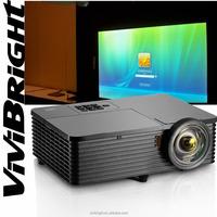 Comparetive Vivibright short throw Projector High performance led mini projector,4000 lumens,XGA,HDMI,DLP for schoo/Home theater