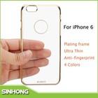 2015 novos produtos xundd placas pc caso claro para iphone 6, caso de telefone celular para o iphone 6