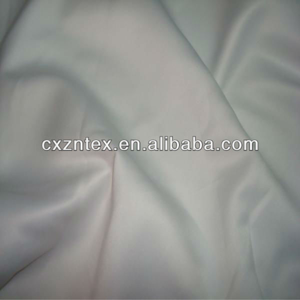 Blanco opaco de novia de raso de tela
