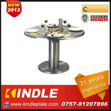 high- tech delicate stainless steel coffee table