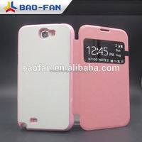 Sublimation Leather case with Flip and Open Winow for Samsung Note2