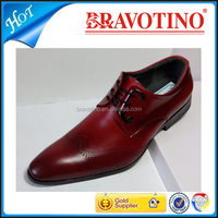 new design fashion Italian men genuine leather red dress shoes