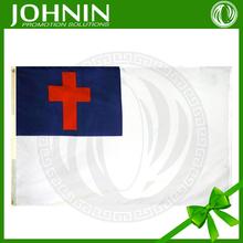 Wholesale Johnin promotional custom gift Christian flag