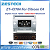 ZESTECH dvd car audio navigation system autoradio for citroen c4 dvd gps radio tv bluetooth system with dual zone
