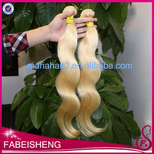 Hot sale top grade Body Wave 613 platinum white clip on hair extension
