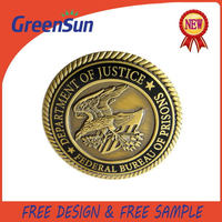 Top quality hotsell epoxy coating gold coin