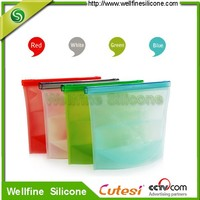Food grade silicone storage bag with FDA and LFGB standard