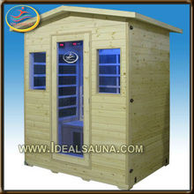 2013 safe infrared sauna room/5years warranty outdoor sauna