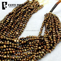 4-5mm bronze small freshwater baroque pearl wholesale for jewelry