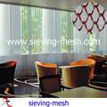 Metálico cortinas decorativas, cortinas metálicas de alambre para la decoración del hotel