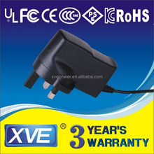 xve 18v800ma power adapter with UL/CUL GS CE SAA FCC approved (2 years warranty)