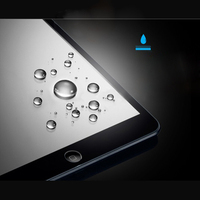 anti fingerprint anti shock anti glare 0.33mm tempered glass color screen protector for ipad 2